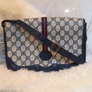 Vintage Gucci Monogram Crossbody Bag